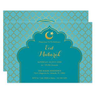 Eid al fitr celebration invitations announcements zazzle eid celebration party invitation morrocan pattern stopboris Choice Image
