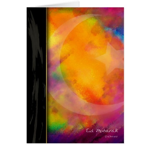 Eid Colors Greeting Cards