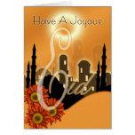 Eid de la tarjeta de Eid, feliz y feliz,