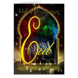 Eid de la tarjeta de Eid, feliz y feliz, fuegos ar