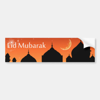 Eid Evening Sky - Bumper Sticker