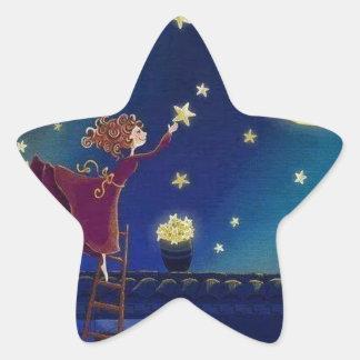 eid feliz pegatina en forma de estrella