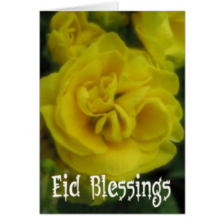 Eid floral greeting card