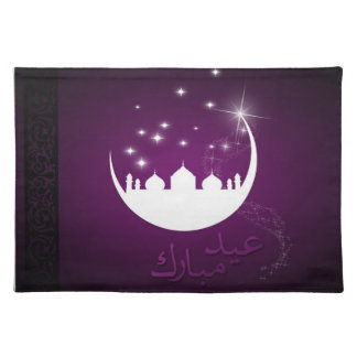 Eid Moon Greeting - Placemat Cloth Place Mat