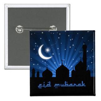 Eid Mosque Blue Night - Button