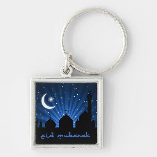 Eid Mosque Blue Night - Keychain