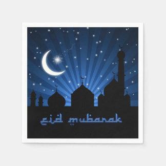 Eid Mosque Blue Night - Paper Napkin