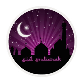 Eid Mosque Purple Night - Frosting Sheets