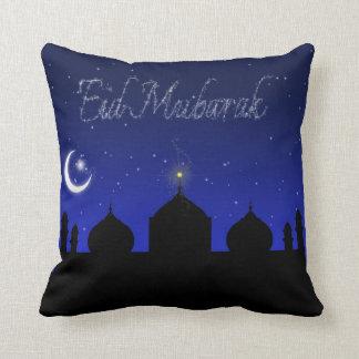 Eid Mubarak - almohada islámica del saludo