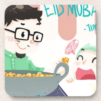 Eid Mubarak Beverage Coaster
