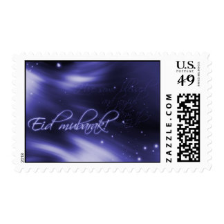 Eid mubarak - blue print postage