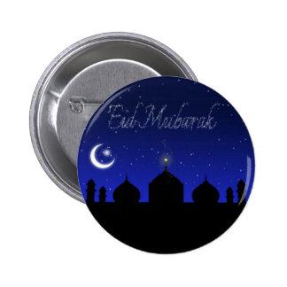 Eid Mubarak - botón islámico del saludo Pin Redondo De 2 Pulgadas