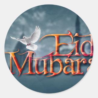 Eid-Mubarak. Classic Round Sticker