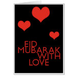 eid Mubarak con amor Tarjeta De Felicitación