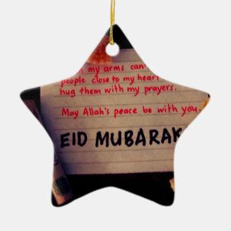 eid-Mubarak Ornamentos De Navidad