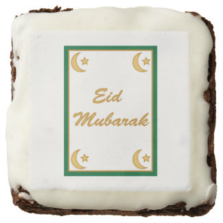 Eid Mubarak Eid al Fitr Chocolate Brownie