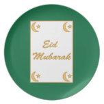 Eid Mubarak Eid al Fitr Plates