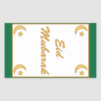 Eid Mubarak Eid al Fitr Rectangular Sticker