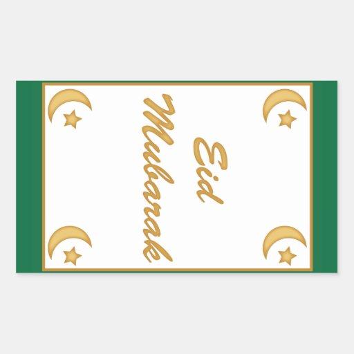 Eid Mubarak Eid al Fitr Rectangular Sticker