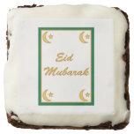 Eid Mubarak Eid al Fitr Square Brownie