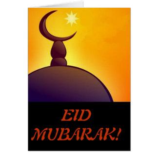 Eid Mubarak - EID feliz - día de fiesta musulmán Tarjeta De Felicitación