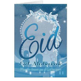 Eid mubarak, Eid Greeting Card, Eid Blue Card