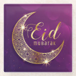 "Eid Mubarak Glass Coaster<br><div class=""desc"">Ramadan</div>"