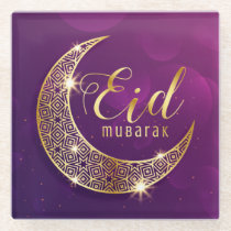 Eid Mubarak Glass Coaster