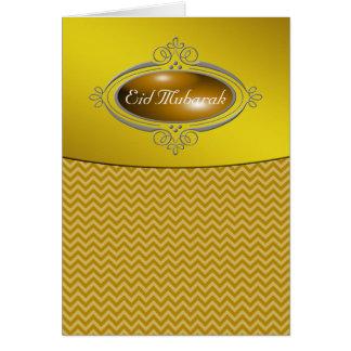 Eid Mubarak Gold Chevron Greeting Cards