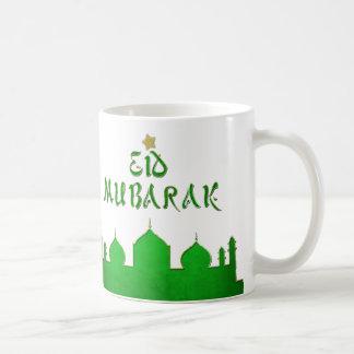 Eid Mubarak Green Gold Mosque - Mug