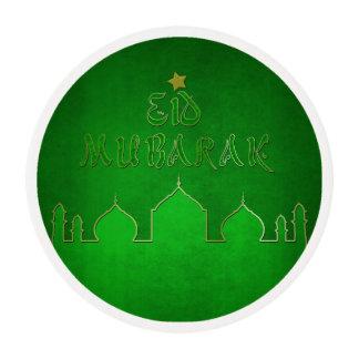 Eid Mubarak Green Themed - Frosting Sheets
