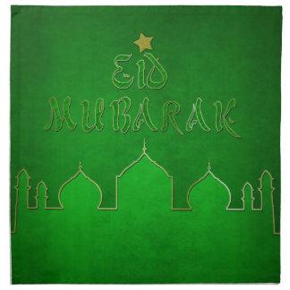 Eid Mubarak Green Themed - Islamic Napkin