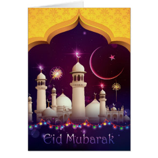 Eid Mubarak Greeting Card - 001