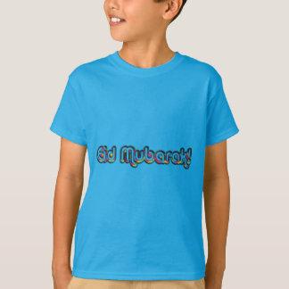 Eid Mubarak Greeting Rainbow Colors Typography T-Shirt