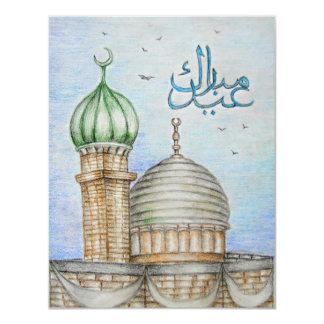 "¡Eid Mubarak! Invitación 4.25"" X 5.5"""