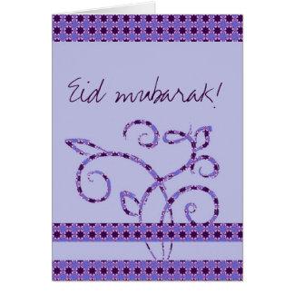 Eid mubarak islamic greeting greeting card
