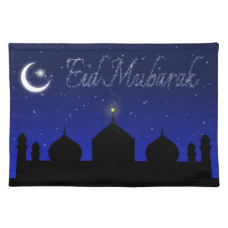 Eid Mubarak - Islamic Greeting Placemat Cloth Placemat