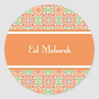 eid mubarak jpg round stickers