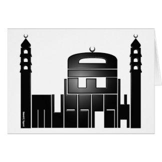 Eid Mubarak Mosque Design Card