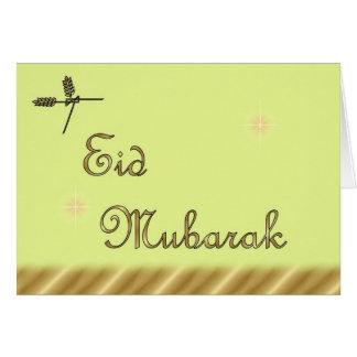 Eid Mubarak Muslim Islamic Ramadan Card
