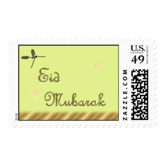 Eid Mubarak Muslim Islamic Ramadan Postage Stamps