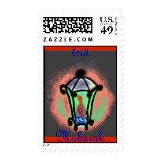Eid Mubarak Muslim Islamic Ramadan Postage Stamp