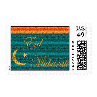 Eid Mubarak Muslim Islamic Ramadan Stamp