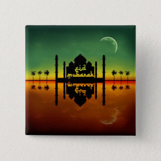 Eid Mubarak Night Reflection - Button