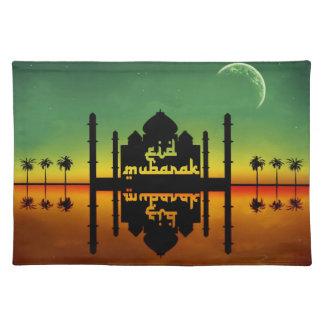 Eid Mubarak Night Reflection - Placemat Cloth Place Mat