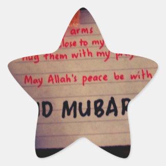 eid-Mubarak Pegatinas Forma De Estrella Personalizadas