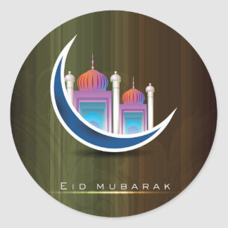 Eid Mubarak Pegatina Redonda