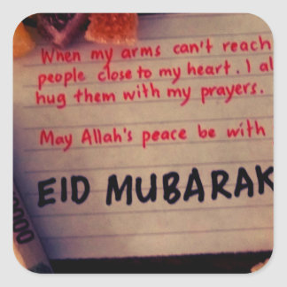 eid-Mubarak Pegatina Cuadrada