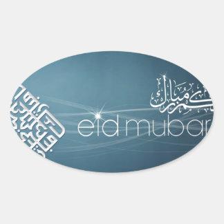 Eid Mubarak Pegatina Ovalada