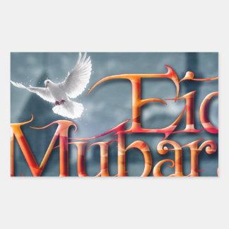 Eid-Mubarak. Pegatina Rectangular